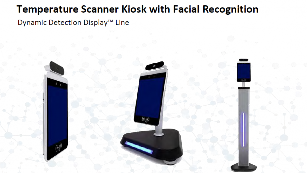 temperature scanner kiosk with facial recognition
